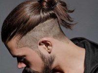 Мужская стрижка с хвостиком сзади